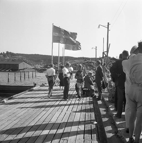 """Enligt notering: """"D.M. i rodd Uddevalla 24-7-1955""""."""