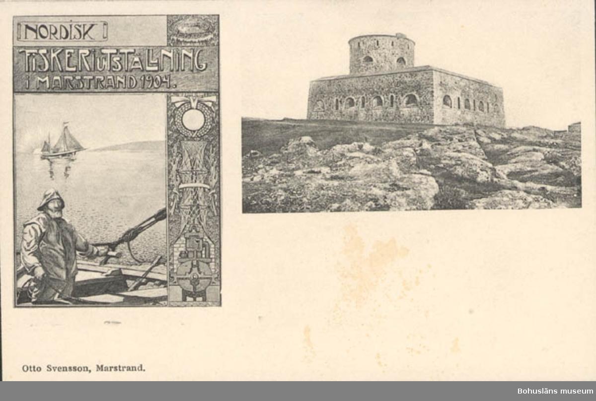 """Vykort vid """"Nordisk Fiskeriutställning i Marstrand 1904"""""""