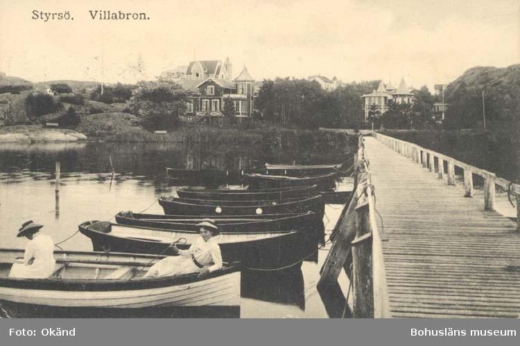 "Tryckt text på kortet: ""Styrsö. Villabron."""