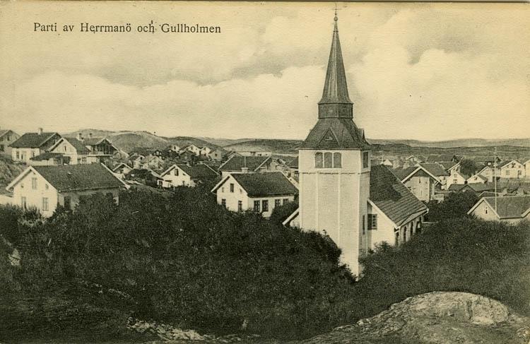 Parti av Herrmanö och Gullholmen.