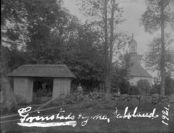"""Enligt text på fotot: """"Grinstads kyrka, Dalsland. 1921""""."""