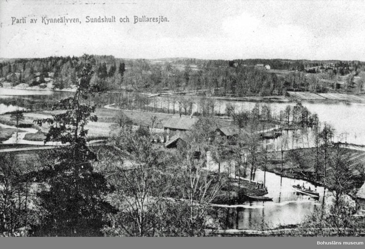 Parti av Kynneälven, Sundshult och Bullaresjön.