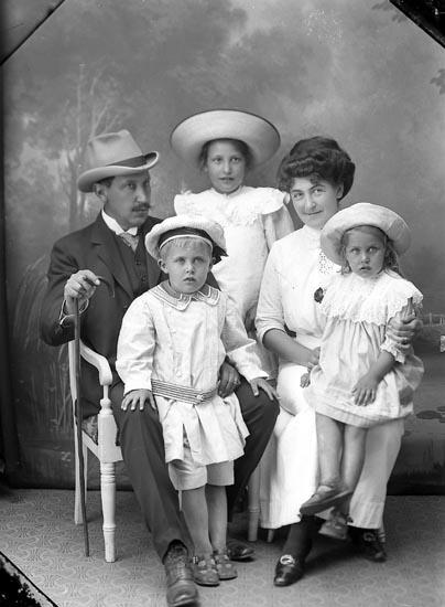 """Enligt fotografens journal Lyckorna 1909-1918: """"Liljehök, Herr Ljung, Lyckorna""""."""