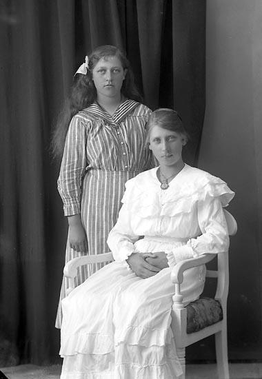 """Enligt fotografens journal nr 3 1916-1917: """"Abrahamsson, Alida (Olof Isaksson) Här""""."""