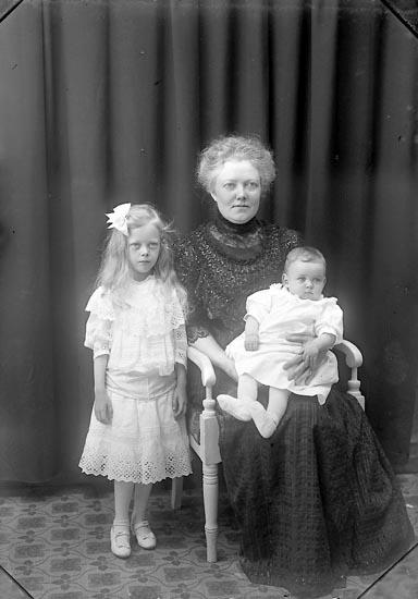 """Enligt fotografens journal Lyckorna 1909-1918: """"Olsson, Fru Lyckorna""""."""