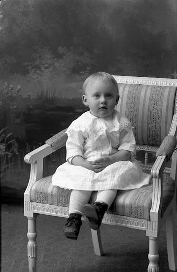 """Enligt fotografens journal Lyckorna 1909-1918: """"Aronsson, Alice Hälle Ljungskile""""."""