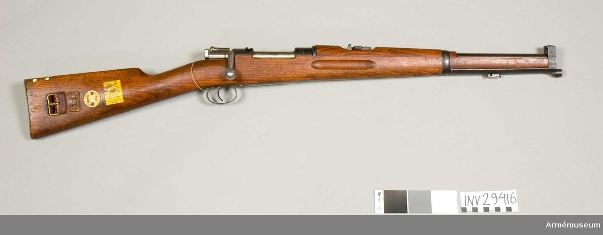 Grupp E II. Karbin m/1894 av system Mauser.