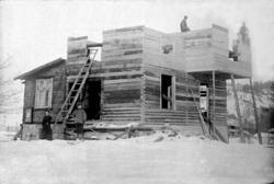Byggnation av Oscar Färdigshus, Dalhem