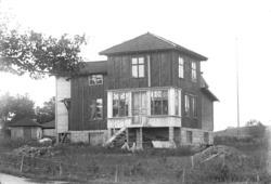 Oscar Färdigs hus under byggnad