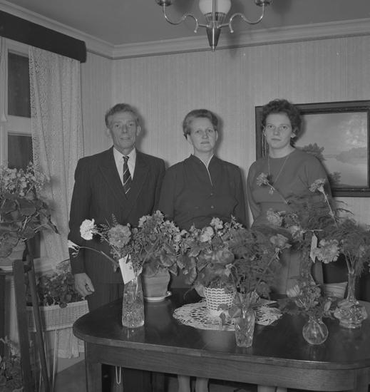 """Text till bilden: """"Fru Karin Kristensson, Landsvägsgatan 9. 50 år. 1957.11"""""""
