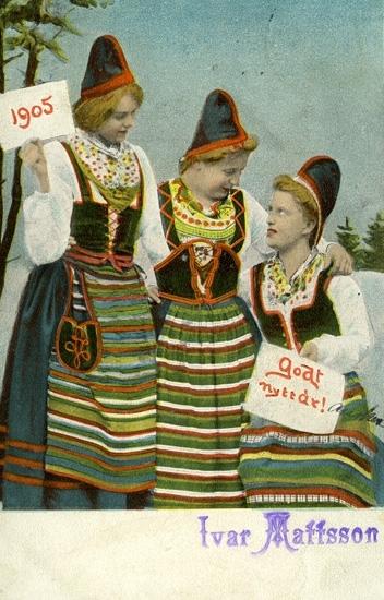 Notering på kortet: Godt Nytt År! 1905.