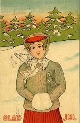 Julhälsning avsänd från Göteborg år 1907. Glad Jul