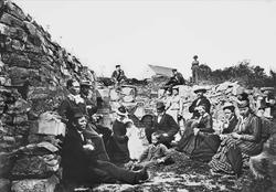 klosterruiner, gruppe