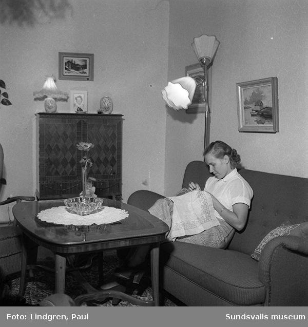 """Herr och fru Nilsson i sit t hem, """"önskehem"""""""