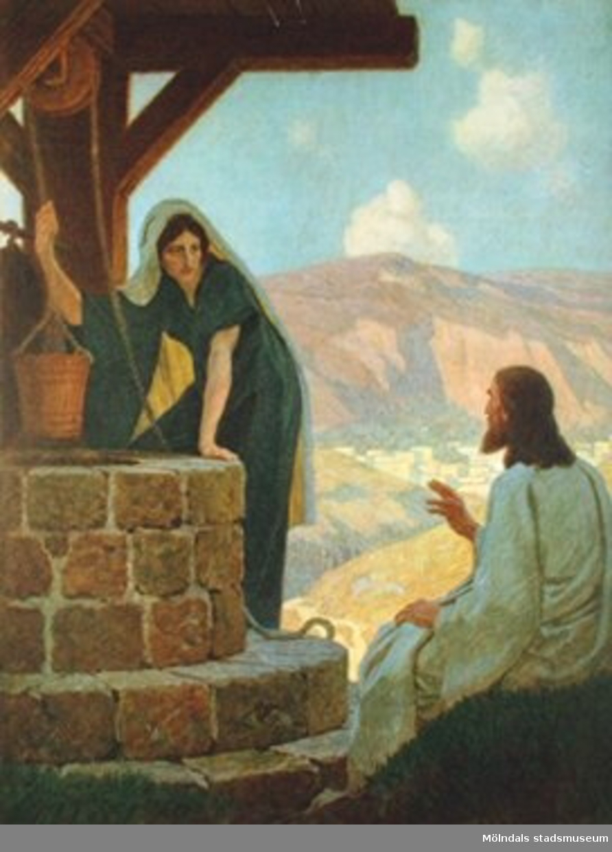 Kristendomskunskap:Jesus vid brunnen.Bibeln i bild nr. 19.