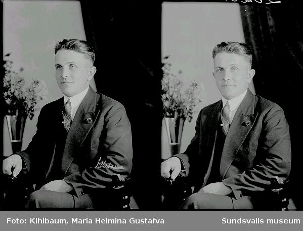Mansporträtt. Olle Eriksson.