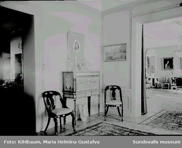 Interiör från Villa Marieberg, familjen Wikströms bostad.