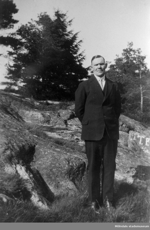 Porträtt av Hjalmar Hansson (1880 -1970) år 1939. Hjalmar arbetade på Papyrus i Mölndal.