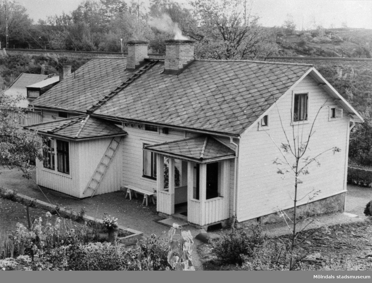 """Mölndals första Folkets Hus """"Smockeboet"""" på Bangatan 16 i Mölndal. Inköpt 1899 av Krokslätts fackförening."""
