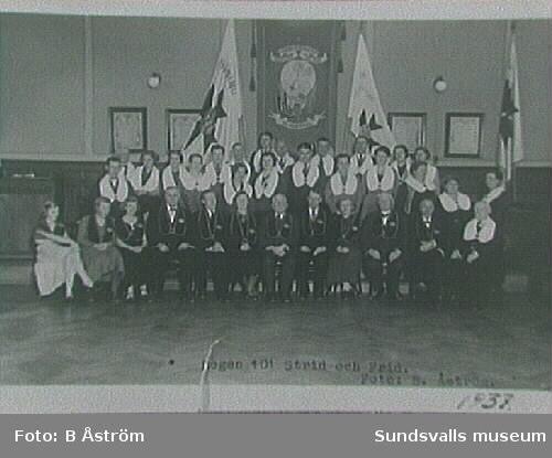 Repro av fotografiet ur IOGT-NTO-föreningen 101Strid och Frid, Sundsvall.I.O.G.T.-logen bildades 1882.