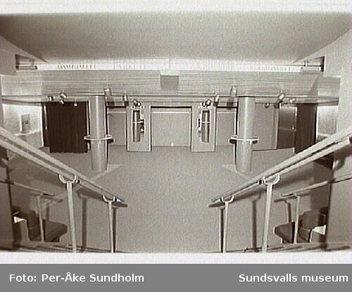 Utrustning och inredning i Sundsvalls Teater.