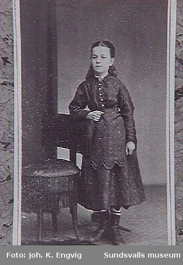 Anna Lous, senare hustru till grosshandlare G P Braathen. Originalfoto fr Christiansund, Norge.