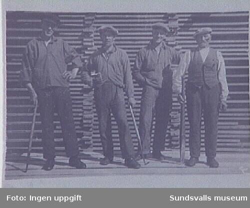 E O Berlin, Erik Sundqvist, Vilhelm Lundvall, Karl Forsberg.