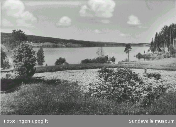Anundgård. Utsikt från Österström. vykort