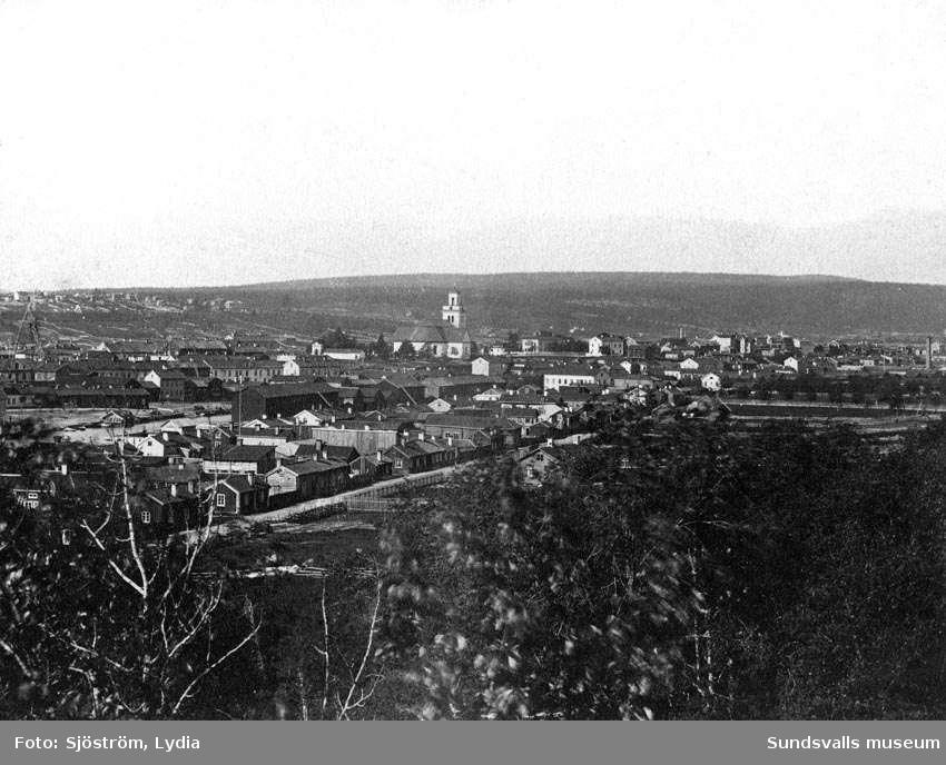 Vy Sundsvall 1880-talets början.