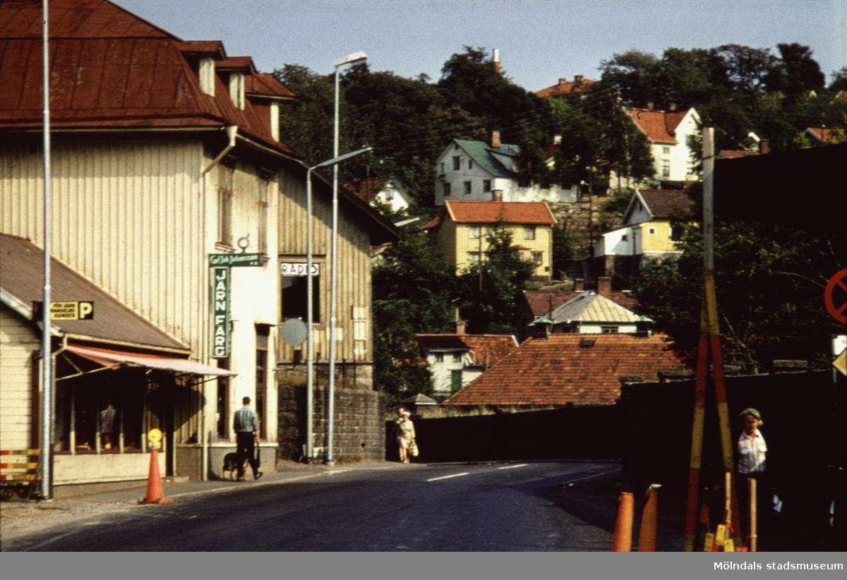 Kvarnbygatan 27 och 29 i Mölndal, 1970-tal.