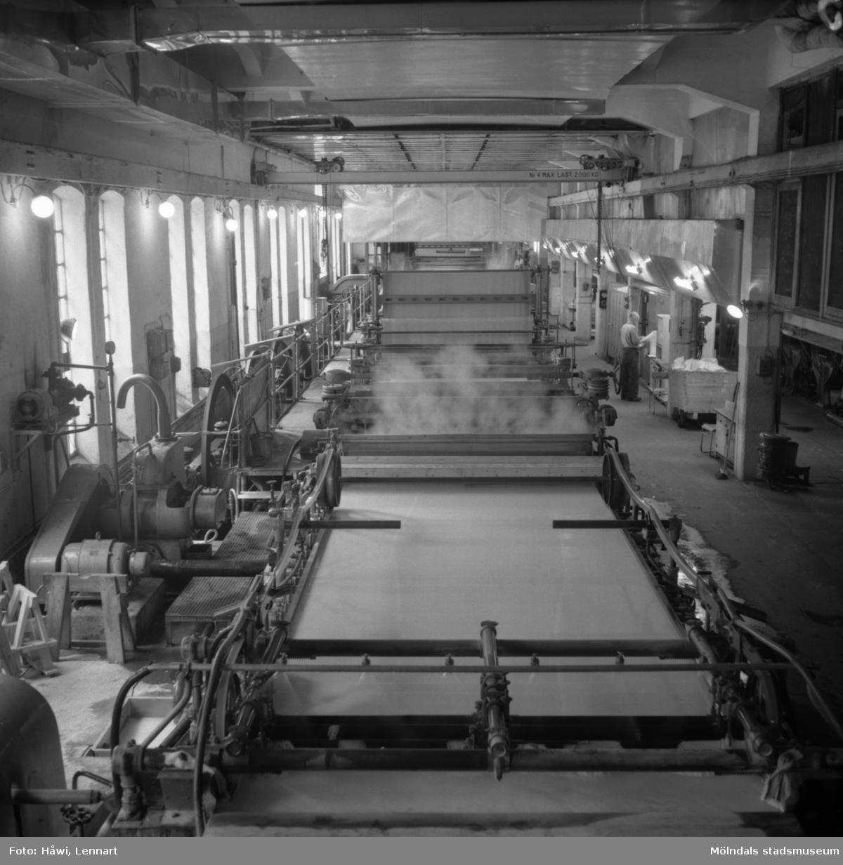 Pappersmaskin PM1 på Papyrus i Mölndal, 6/5 1955.