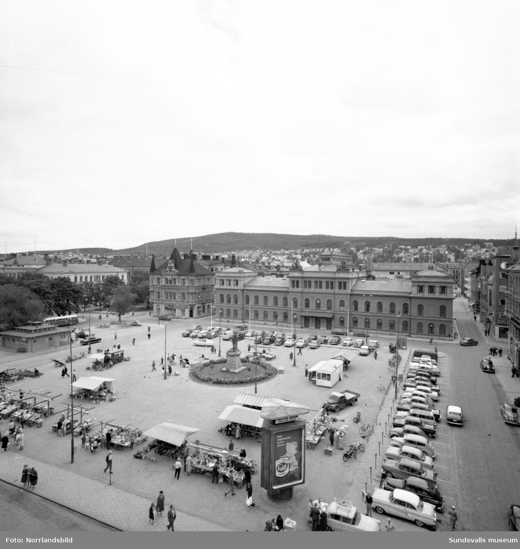Stadshuset och Stora torget.