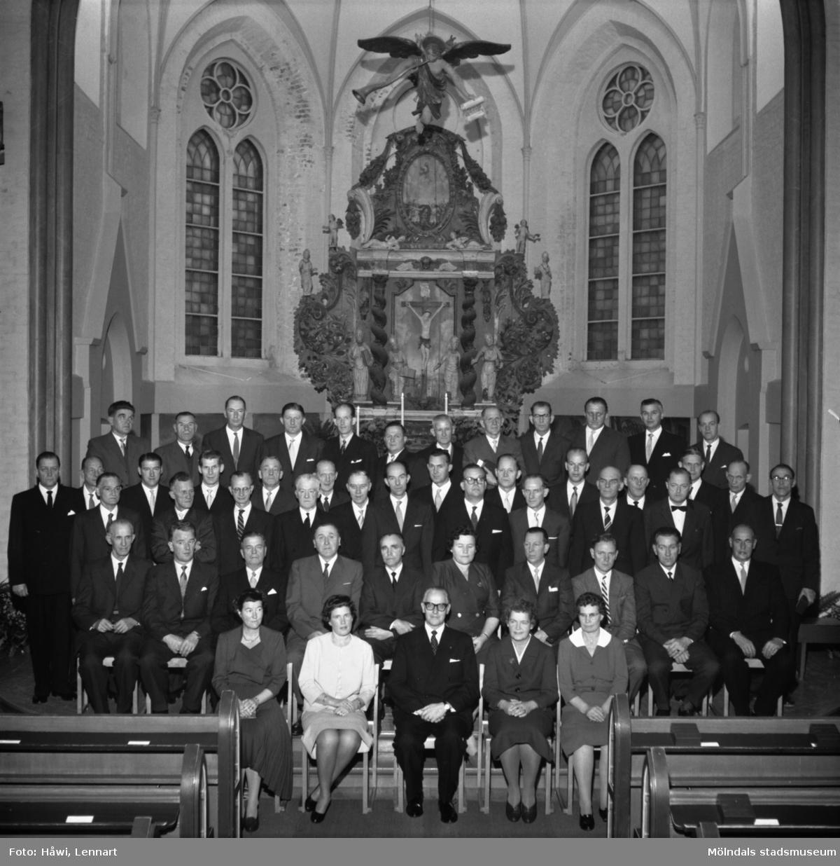 Utdelning av Papyrus minnesgåva 1960. Fässbergs kyrka i Mölndal, 9/11 1960.