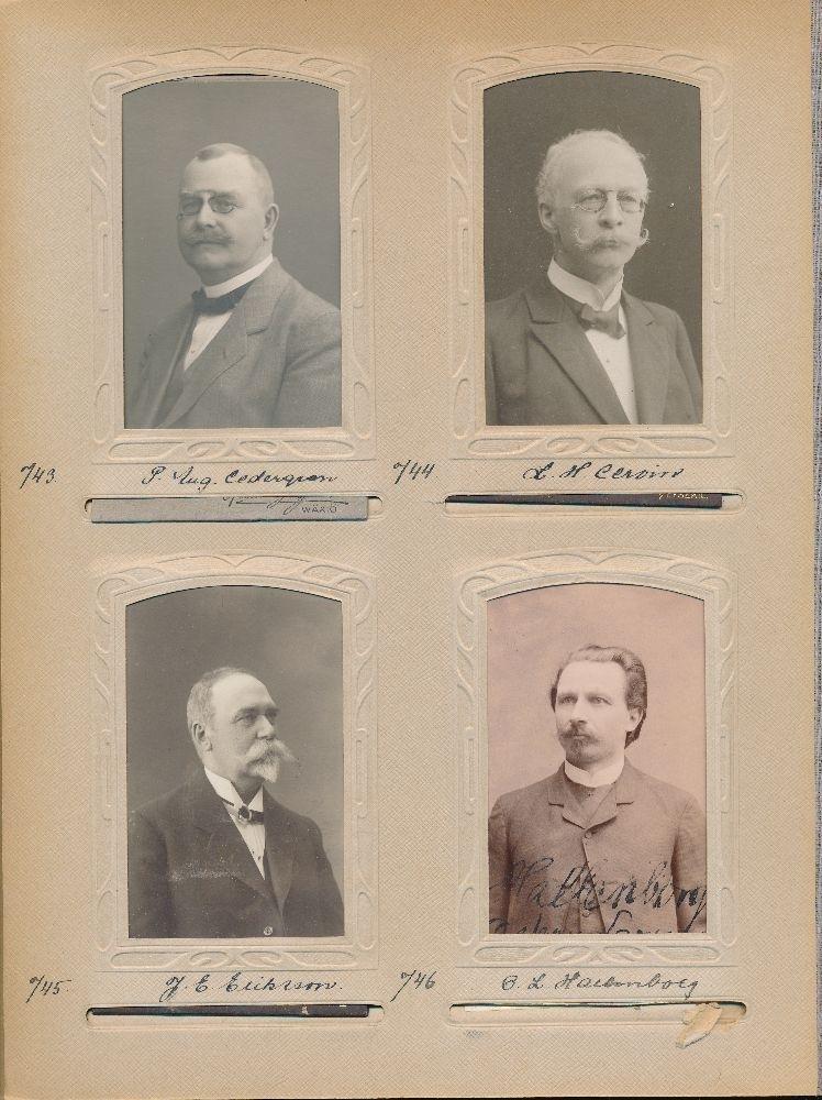 Porträtt av Johan Erik Eriksson, postmästare i Skara 1893-1904 och Sundsvall 1904-1910.