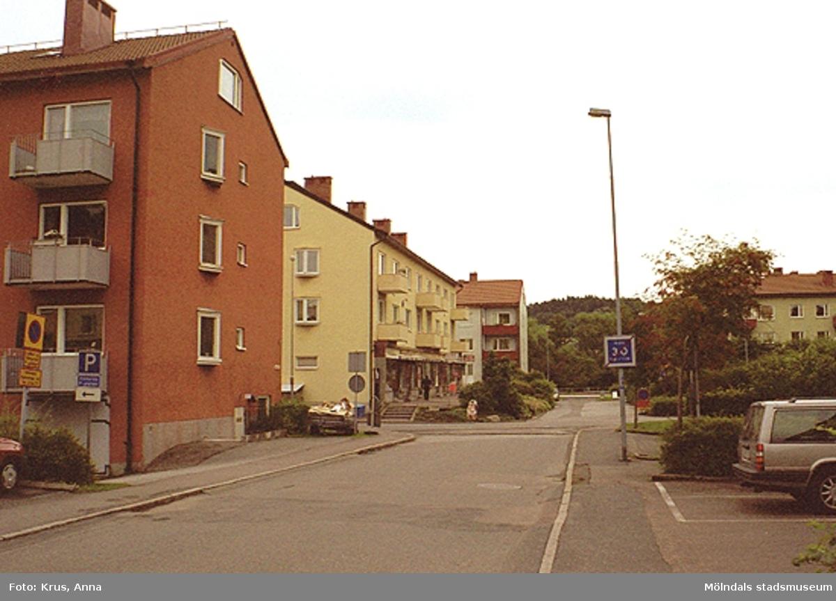 """Översikt """"torgbildning"""" mot väster. De Geer 1/Björlin."""