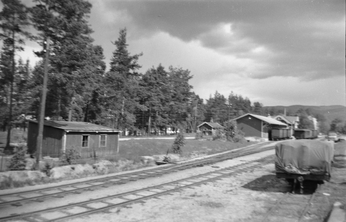 Blandet tog 5661 på Evje stasjon på Setesdalsbanen