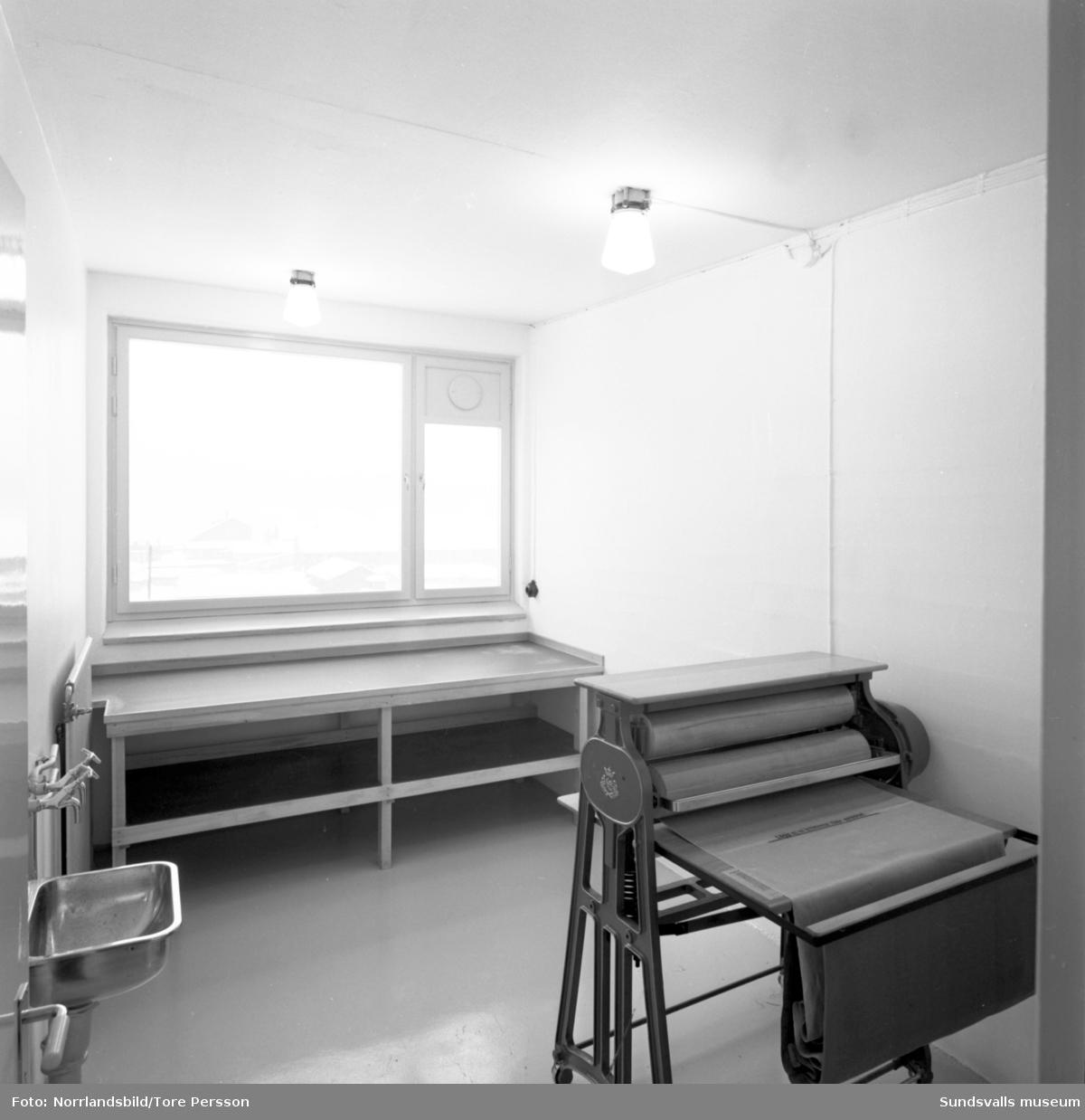 Bostäder och tvättstuga vid Högomsvägen i Granlo. Riksbyggen.