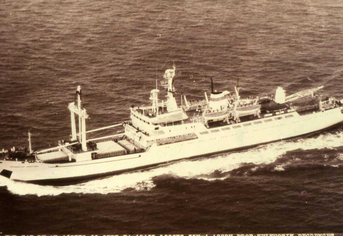 Russisk fartøy av Professor Shchyogolev - klassen med navnet Professor Khlyustin.