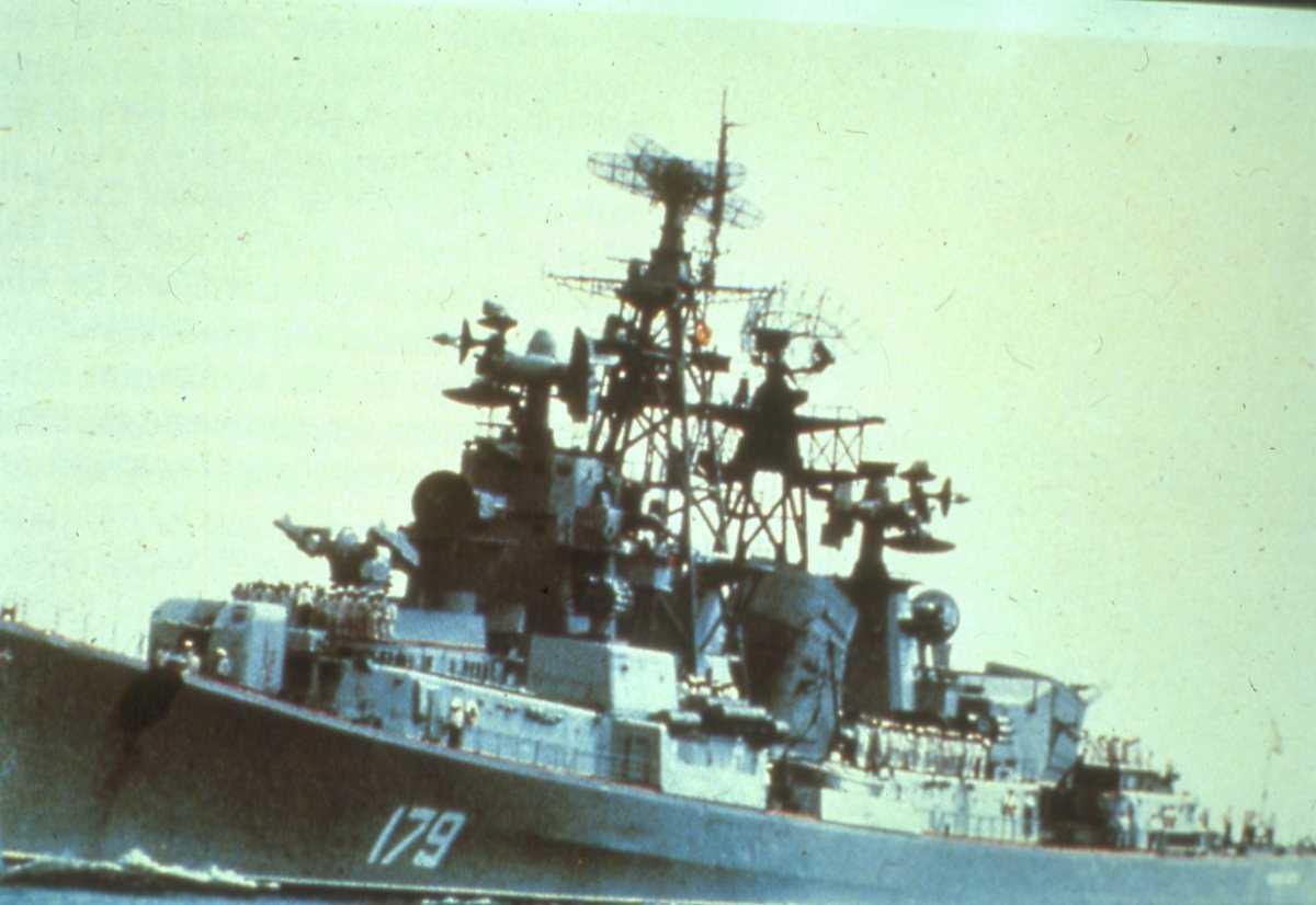 Russisk fartøy av Kashin - klassen med nr. 179.