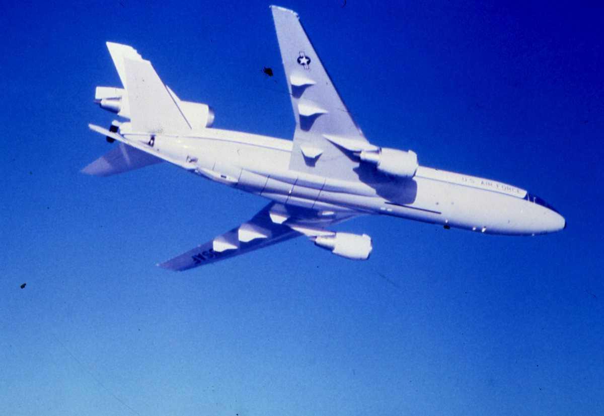 Amerikansk fly av typen KC-10 Extender.