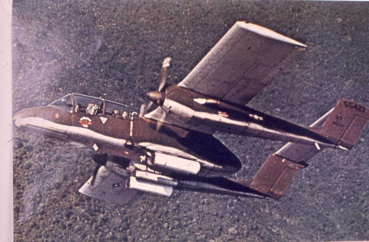 Amerikansk fly av typen Bronco type OV-10 A.