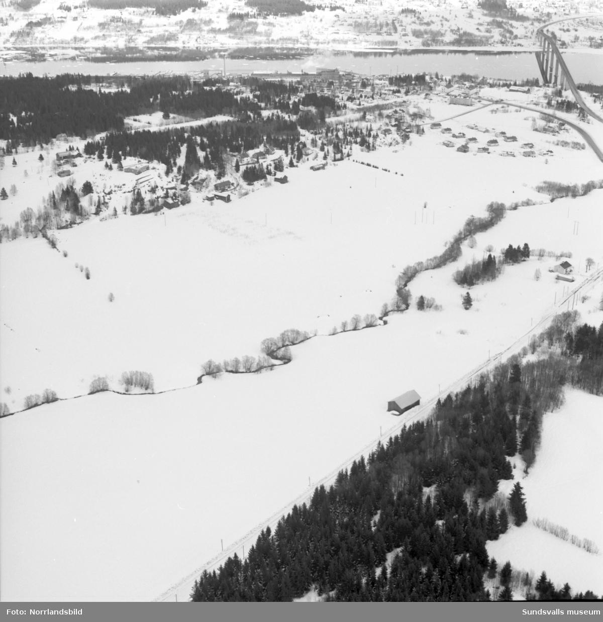 Flygfoton över Johannedal, fotograferat för Thurfjells Arkitektkontor.