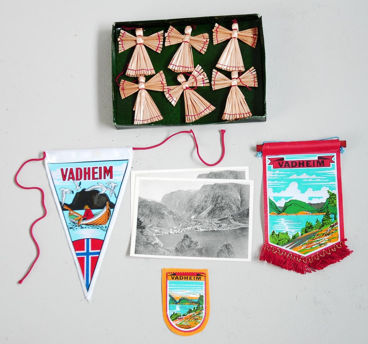 Souvenirvimplar, postkort, juletrepynt