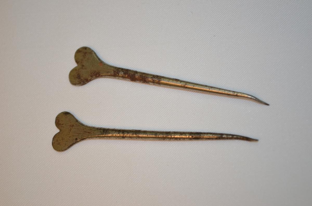 Sylliknande verktøy som settaren nytta i fsamanheng med korrigering av blysats. Denne låg i ei verktøykasse frå ein boktrykkar.
