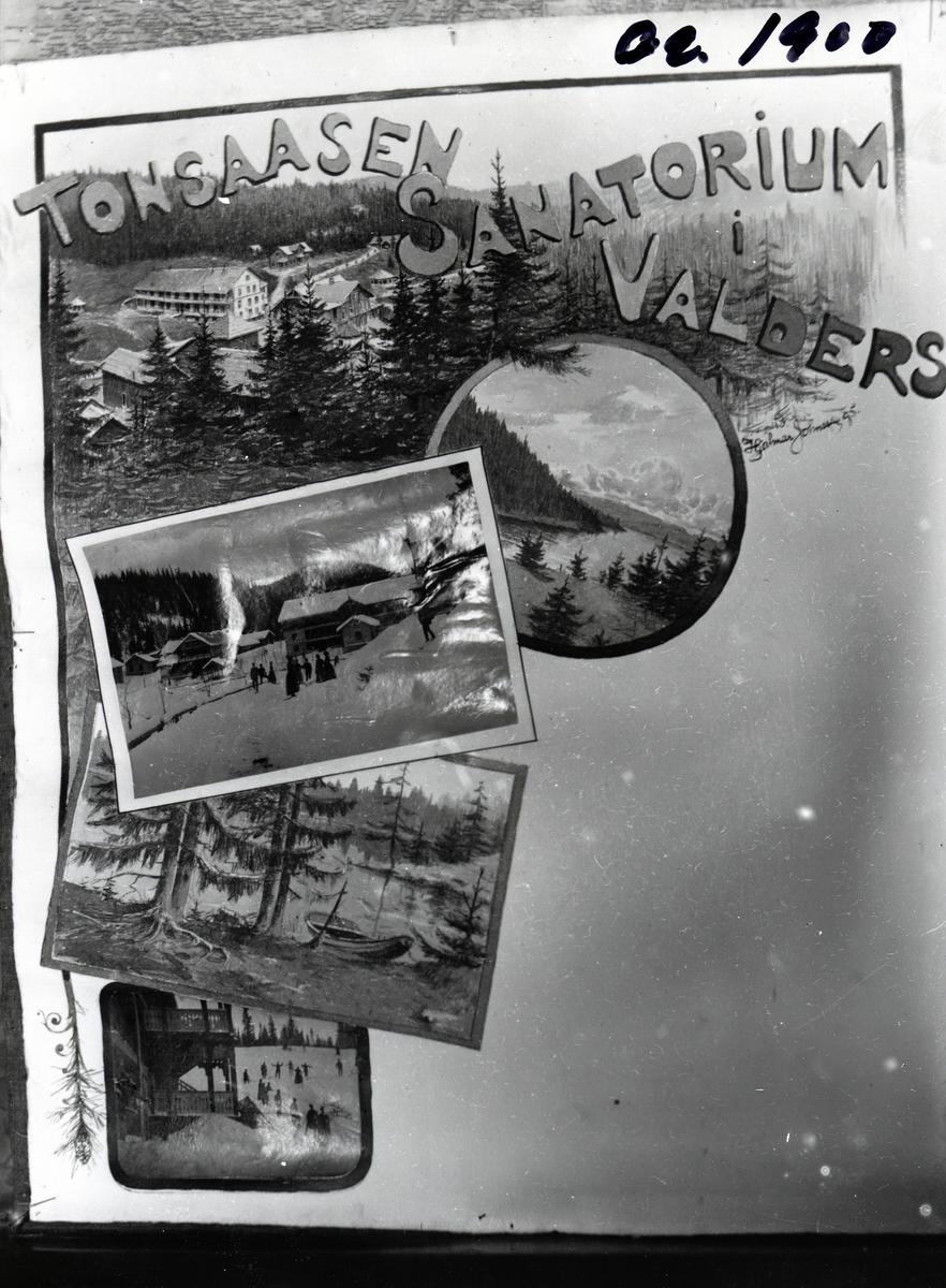 Avfotografering postkort/turistreklame for Tonsåsen Sanatorium