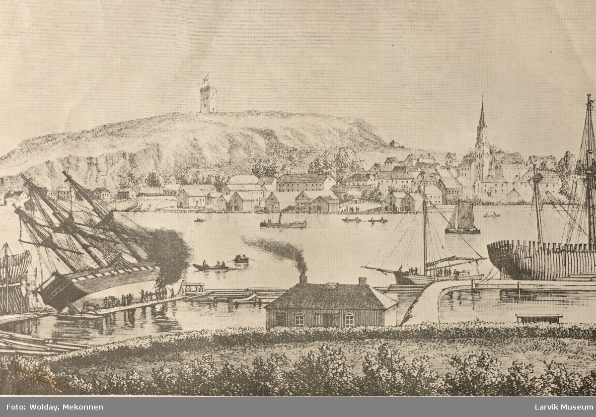"Tønsberg. Seet fra Skibsreder Bulls villa ""Fagerheim"""