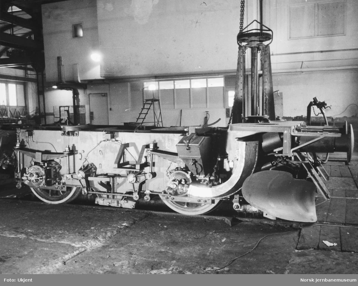 Elektrisk lokomotiv El 9 - ramme og hjulganger