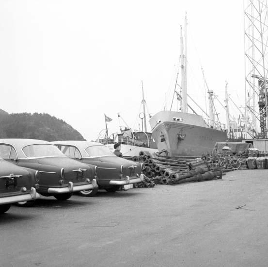 """Enligt notering: """"Last till Bermudas Hamnen 21/12 -59""""."""