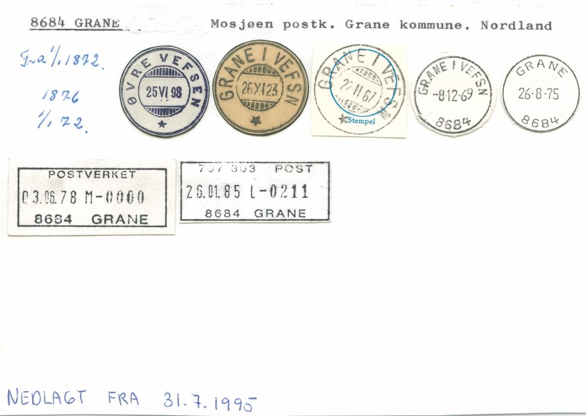 Stempelkatalog 2752 Granavollen (Granvolden, Granvollen), Jevnaker, Gran, Oppland