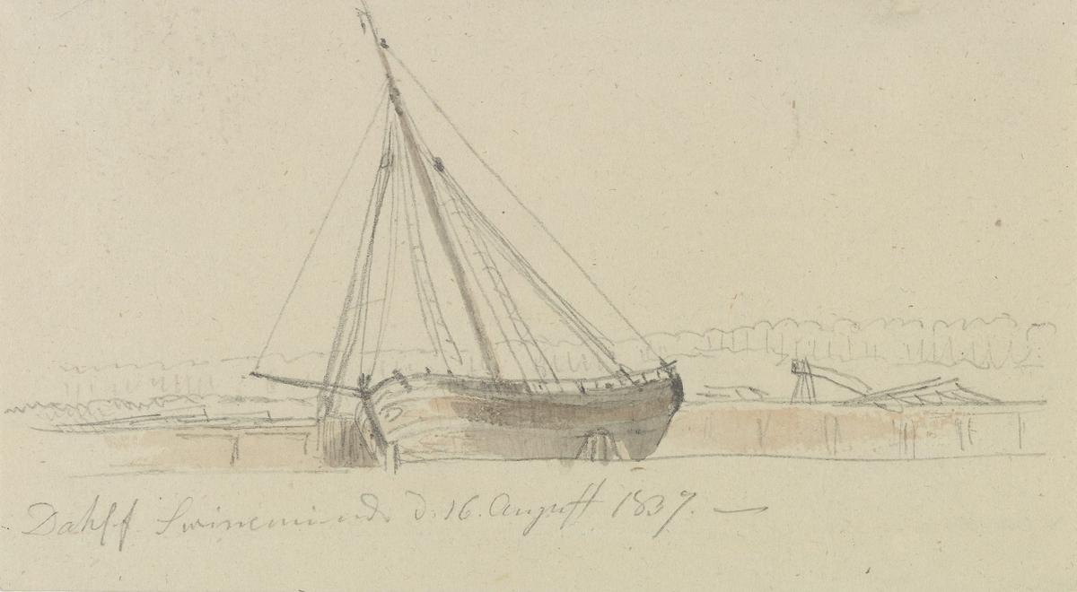 Kjølhalet skip, Swinemünde [Tegning]